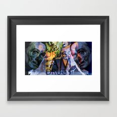 shadow death hero's DALI Framed Art Print