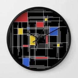 Mondrian Scratch Art 2 Wall Clock