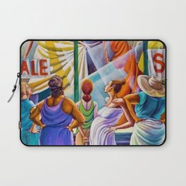 Classical African-American Masterpiece 'Window Wishing' by Ernie Barnes Laptop Sleeve
