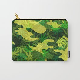 Green Marijuana Cannabis camo camouflage army style pattern Carry-All Pouch