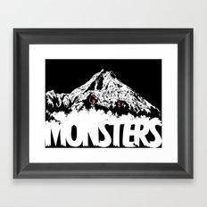 Monsters ( The Living Mountain ) Framed Art Print
