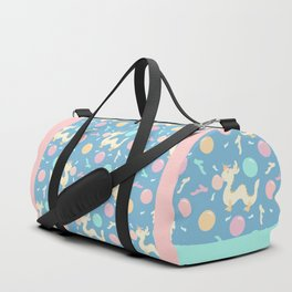 Pastel Bubblegum Dragon Pattern Duffle Bag