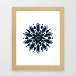Blue knapweed flower Framed Art Print