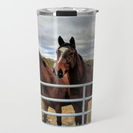 Shropshire Horses Greeting Travel Mug