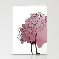 peonies Stationery Cards featuring peonies by morgan kendall