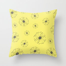 Falling Daisies Throw Pillow