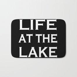 Life at the lake - black and white Bath Mat