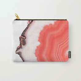 Living Coral Agate Carry-All Pouch