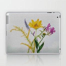 SERIES JASMIN WATERCOLOR FLOWERS Laptop & iPad Skin