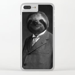 Gentleman Sloth 8# Clear iPhone Case