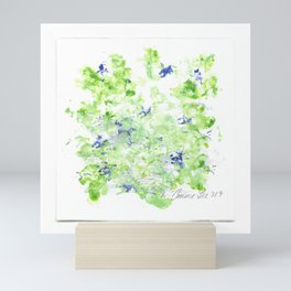 Mini Impressions: CORN SPEEDWELL Mini Art Print