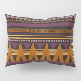 Colorful Hand Painted Ethnic Pattern Pillow Sham