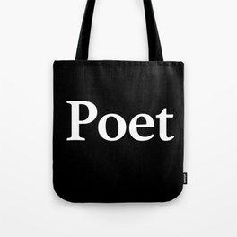 Poet inverse Tote Bag