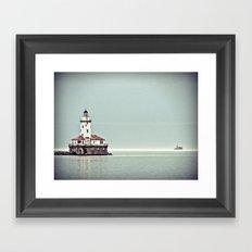 Chicago Harbor Lighthouse Framed Art Print