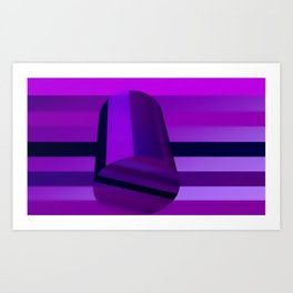 Cylinder and stripes Art Print