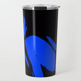Seductive Look Blue & Black Travel Mug