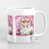 okami Mugs featuring Amaterasu from Okami 02 by Jazmine Phillips
