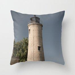 Kenosha Southport Light Station Light Tower Lighthouse Lake Michigan Throw Pillow