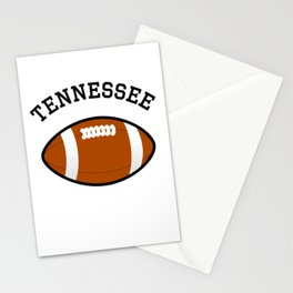 Tennessee American Football Design black lettering Stationery Cards