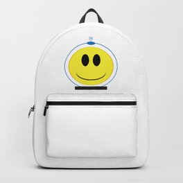 Spaceman Smile Face Button Isolated Backpack