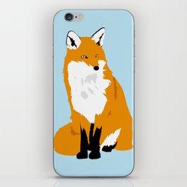 Red Fox (Light Background) iPhone Skin