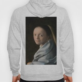 Study of a Young Woman (ca1665-1667) by Johannes Vermeer Hoody