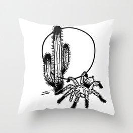 Tarantula Sunrise Throw Pillow