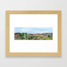 Viseu landscape Framed Art Print