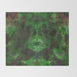 Evergreen DyeBlot Throw Blanket