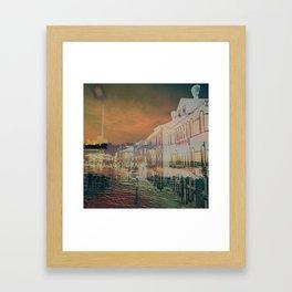Sinking Streets Framed Art Print
