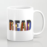 read Mugs featuring READ by Empire Ruhl