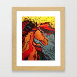 Wild Horse Breaking Free Southwestern Style Framed Art Print