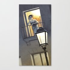 At the window / A la fenêtre Canvas Print