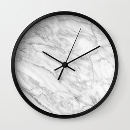 White Marble 008 Wall Clock