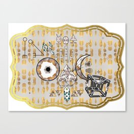 Mystification Fascination in Silver and Gold Canvas Print