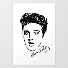 Elvis! Art Print