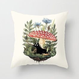 Tiny Unicorn Throw Pillow