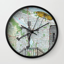 Portland, Oregon Wall Clock