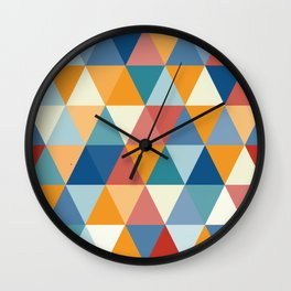 Colorful Triangles Wall Clock