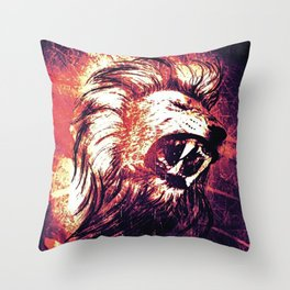 Power of the Lion Throw Pillow