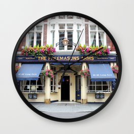 The Freemasons Arms Pub - © Doc Braham; All Rights Reserved. Wall Clock