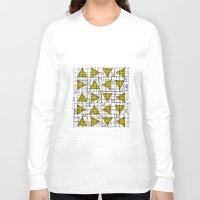 yellow pattern Long Sleeve T-shirts featuring Yellow by Ivano Nazeri