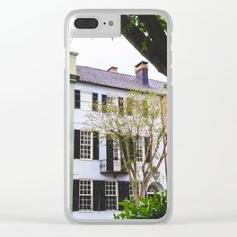 Rainbow Row in Charleston, SC Clear iPhone Case