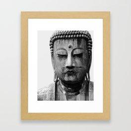 Buddha Statue, Buddha Photograph, Black and White Buddha Print Framed Art Print
