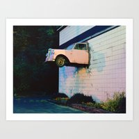 Car in the Wall Art Print