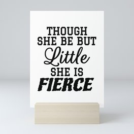 Little & Fierce Mini Art Print