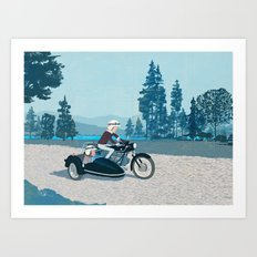 The Blue Lake Art Print