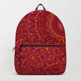 Red Jungle Mandala Backpack