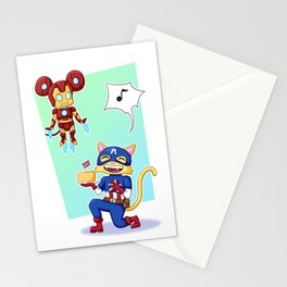 Captain Americat and Iron Mouse Stationery Cards