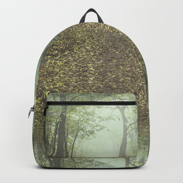 Walk in the Surreal Misty Forest Backpack